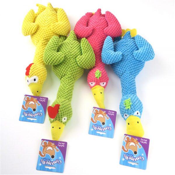 plush squeaker bird chew toy