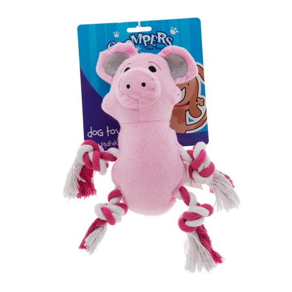rope-and-plush-sqeaky-dog-toy-pig
