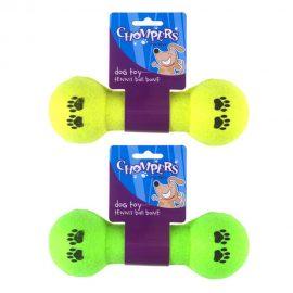 tennis-ball-bone-dumbbell-dog-chew-toy