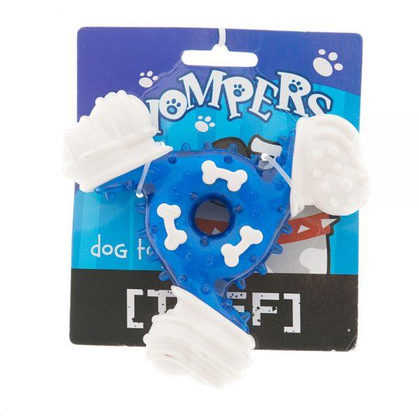 spikey-teething-triangle-dog-toy-blue