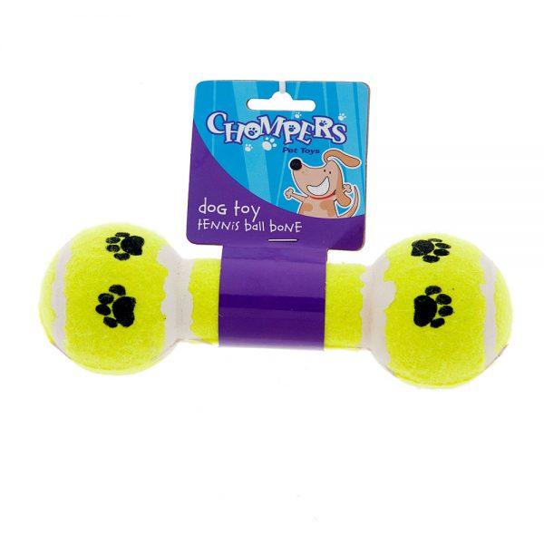 tennis-ball-bone-dog-chew-toy-yellow