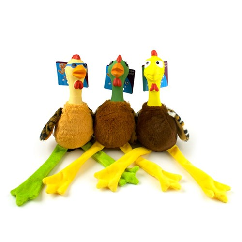 Plush-and-latex-chicken-with-squeaker-dog-toy