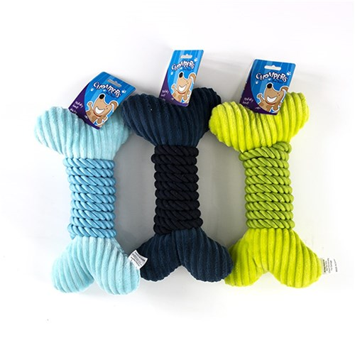Plush-bone-and-rope-wrap-squeaky-dog-toy