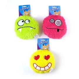 Plush-emoji-dog-chew-toy