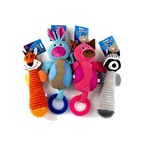 Plush-spikey-ring-dog-toy