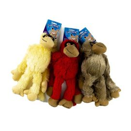 Dog Toy Plush Gorilla w Squeak 31cm 3 Asstd Colours