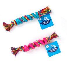 Spiral rope dog toy